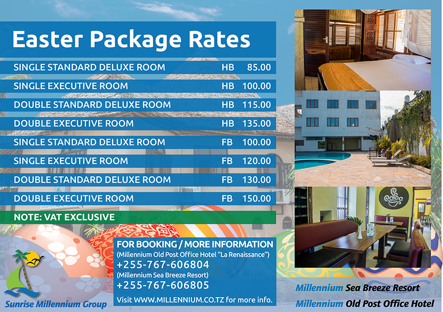 EASTER PACKAGE RATES